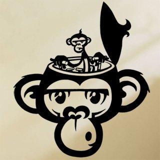 Nálepka na zeď Opička 002 - 120x141 cm