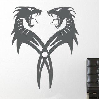 Samolepka na zeď Dračí dvojčata 001 - 60x74 cm