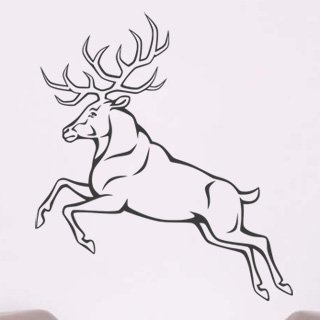 Samolepka na zeď Jelen 005 - 60x68 cm