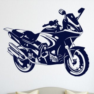 Samolepka na zeď Motorka 016 - 100x80 cm