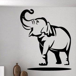 Samolepka Slon s chobotem nahoru 1151 - 120x144cm