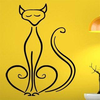 Samolepící dekorace Kočka 0436 - 91x120 cm