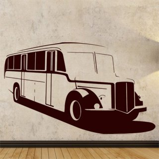 Samolepka na stěnu Autobus 002 - 198x120 cm