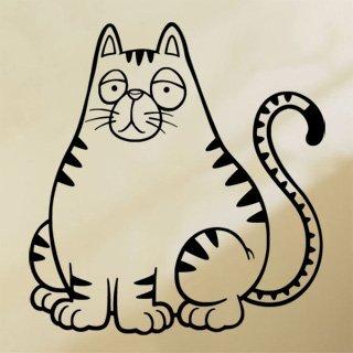 Samolepka Kočička 0522 - 80x85 cm