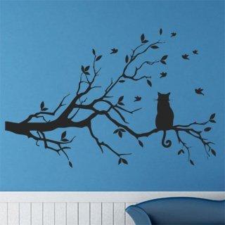 Samolepka na zeď Kočka 004 - 92x60 cm