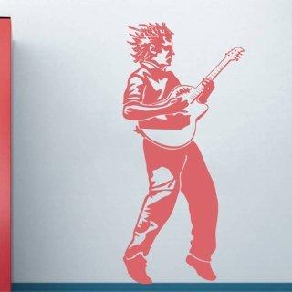 Nálepka na zeď Kytarista 001 - 100x216 cm