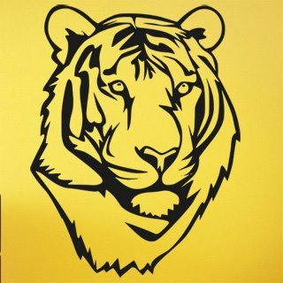 Samolepka na zeď Tygr 011 - 60x78 cm
