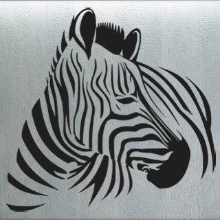 Nálepka na zeď Zebra 007 - 124x120 cm