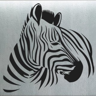 Samolepka Zebra 007 - 83x80 cm