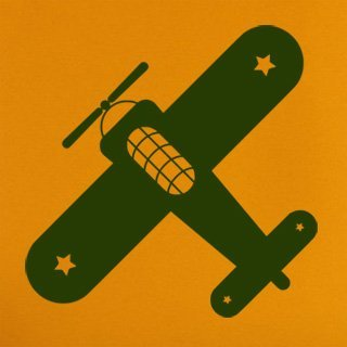 Nálepka na zeď Letadlo 001 - 120x120 cm