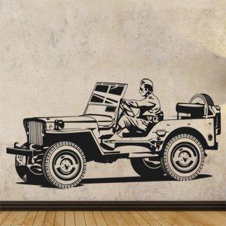 Samolepka na zeď Auto 027 - 120x61 cm