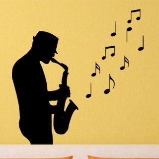 Samolepka Saxofonista 001 - 80x82 cm