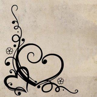 Samolepící dekorace Srdce 0264 - 100x123 cm