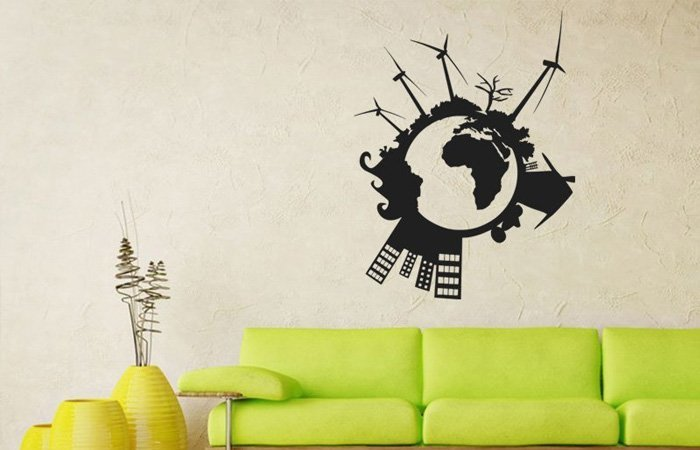 TIP: samolepka na zeď Svět