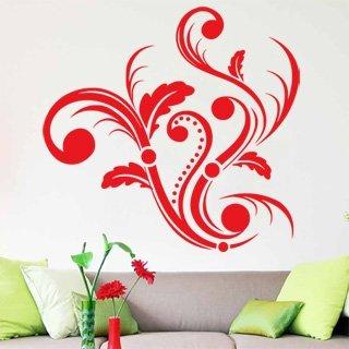 Samolepící dekorace Ornamenty z rostlin 004 - 105x100 cm