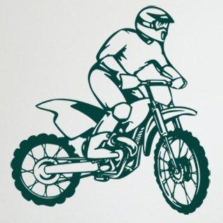 Samolepící dekorace Motorka 010 - 115x120 cm