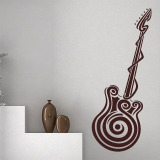 Samolepka na zeď Kytara 001 - 50x120 cm