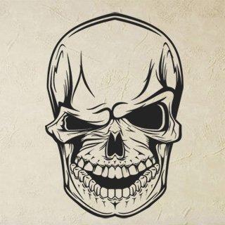Samolepka Mrkající lebka 1157 - 120x179cm