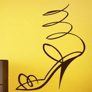 Nálepka na zeď Střevíček 001 - 120x148 cm