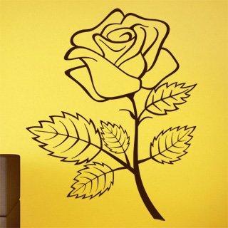 Samolepka na zeď Růže 001 - 60x74 cm
