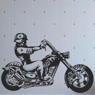 Samolepka na zeď Motorka 009 - 120x78 cm