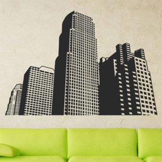 Samolepka na zeď Město 001 - 120x83 cm