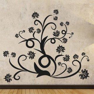 Samolepící dekorace Ornamenty z rostlin 015 - 119x100 cm