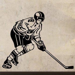 Samolepka na zeď Hokejista 002 - 75x60 cm