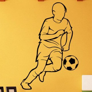 Samolepka na zeď Fotbalista 0593 - 60x91 cm