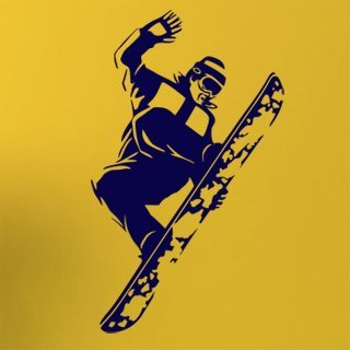 Samolepka na zeď Snowboardista 005 - 60x101 cm