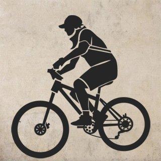 Samolepící dekorace Cyklista 001 - 100x103 cm