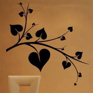 Nálepka na zeď Srdce 0248 - 120x120 cm