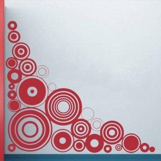 Samolepící dekorace Kruhy 008 - 120x120 cm
