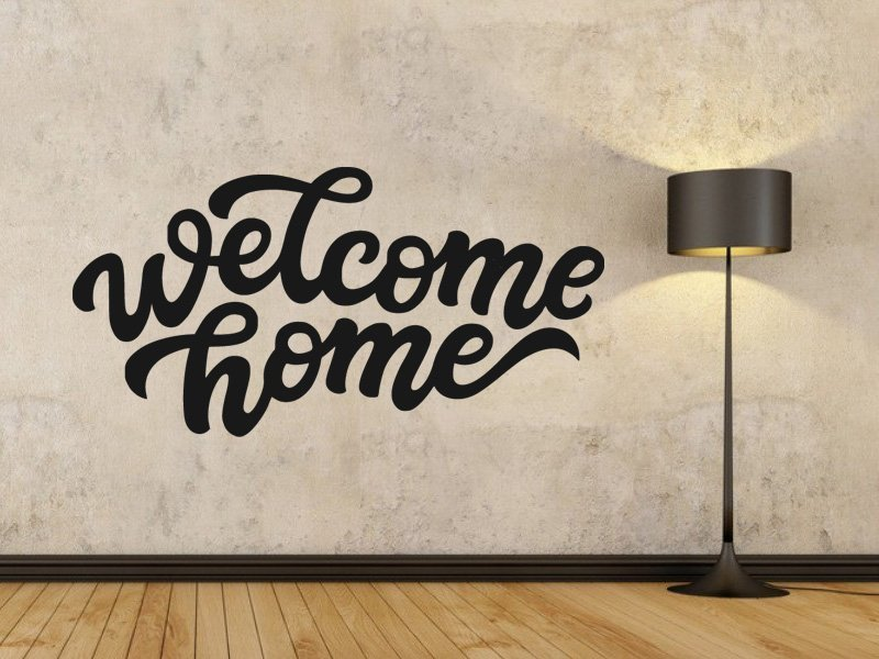 Samolepka na zeď Nápis Welcome Home 0636