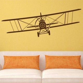 Samolepka na zeď Letadlo 007 - 120x41 cm