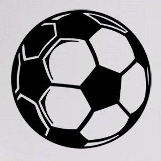 Samolepka Fotbalový míč 0572 - 80x80 cm