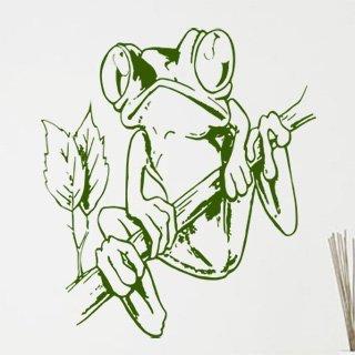 Samolepka na zeď Žába 003 - 80x90 cm
