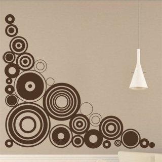 Samolepka na zeď Kruhy 008 - 80x80 cm