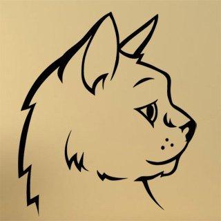 Samolepka na stěnu Kočka 0505 - 105x120 cm