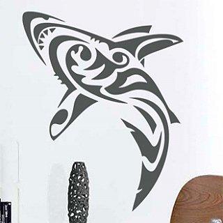 Samolepka na zeď Žralok 006 - 60x73 cm