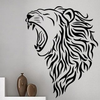 Samolepící dekorace Lev 007 - 95x120 cm