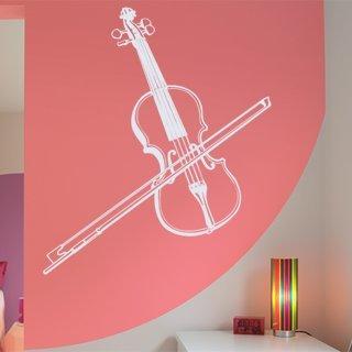 Samolepka na zeď Housle 001 - 80x94 cm