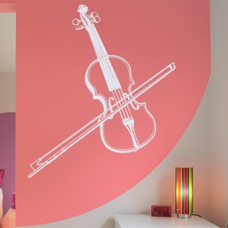 Samolepka Housle 001 - 103x120 cm