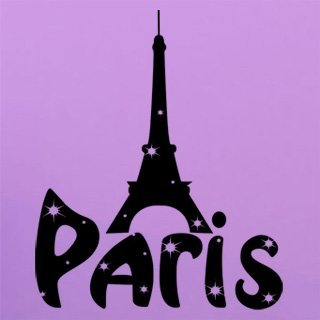 Samolepka na zeď Paříž 001 - 60x73 cm