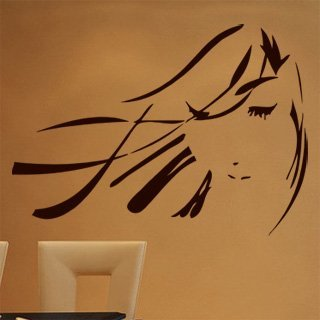 Nálepka na zeď Geisha 001 - 137x100 cm