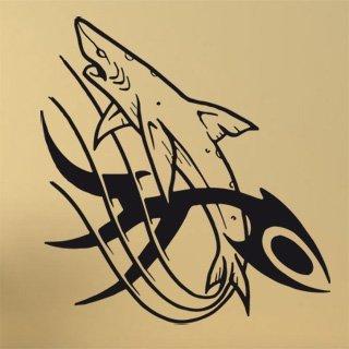 Samolepka na zeď Žralok 001 - 80x86 cm