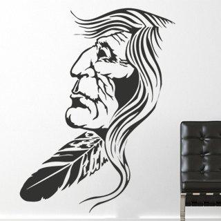 Samolepka na zeď Indián 001 - 60x80 cm