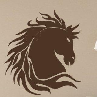 Samolepka na zeď Kůň 003 - 80x89 cm