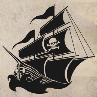 Samolepka na zeď Pirátská loď 001 - 83x80 cm