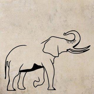 Samolepka Slon s chobotem nahoru 1152 - 171x120cm